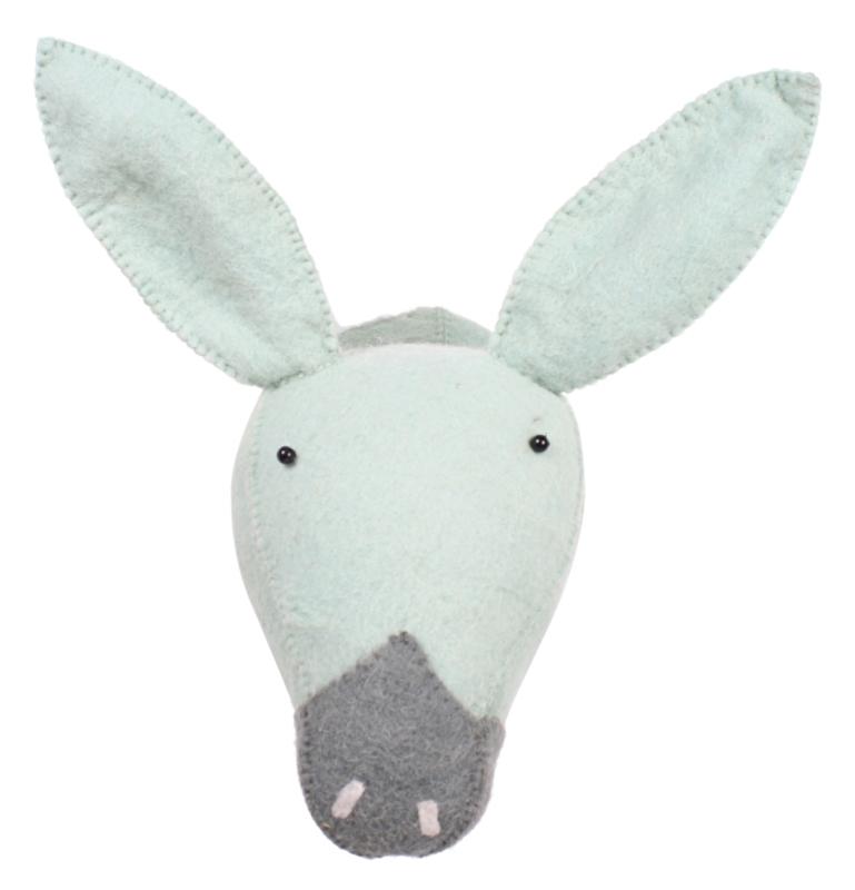Kidsdepot Dierenkop Zoo Donkey Mint