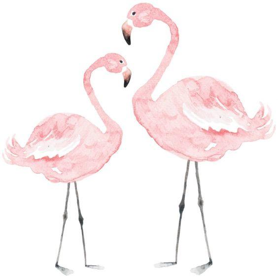 Muurstickers Kinderkamer Pink Flamingo's