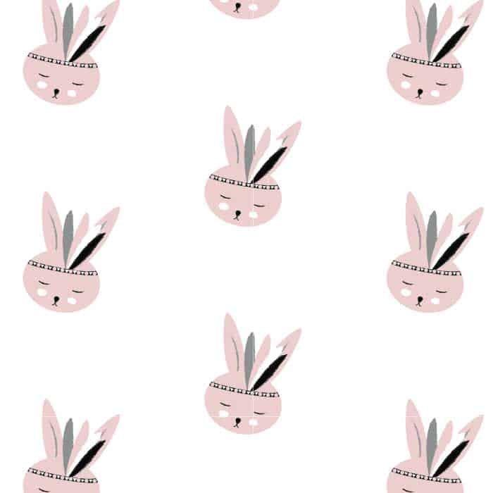 Behang Kinderkamer Bunny Pink