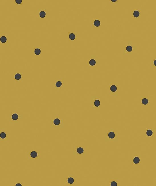 Behang Kinderkamer Playful Dots Mustard