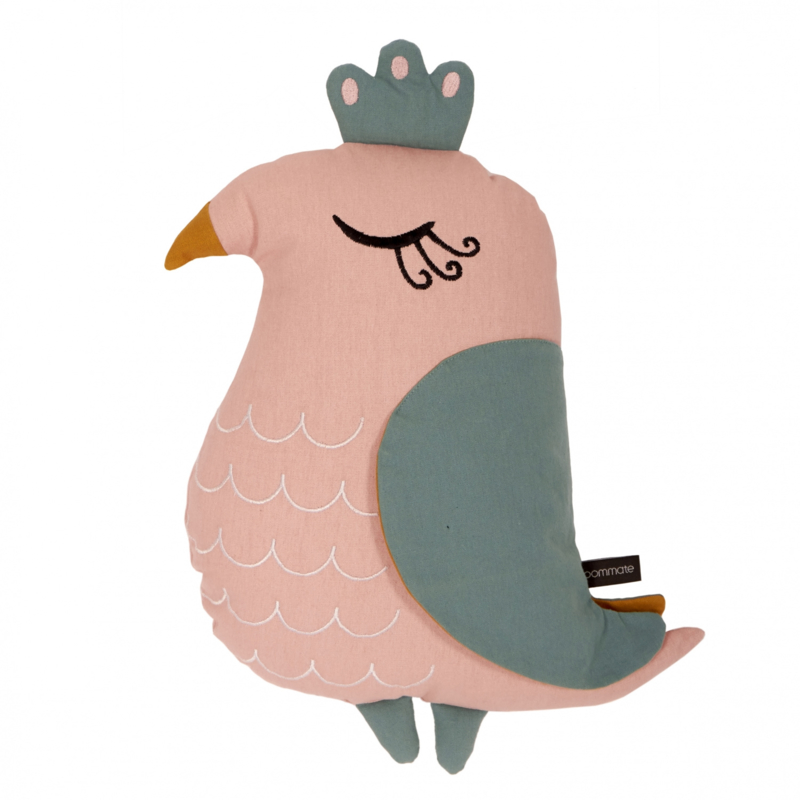 Kussen Kinderkamer Pink Bird van Roommate