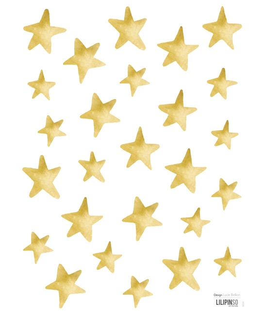 Muurstickers kinderkamer Lilipinso: Golden Stars