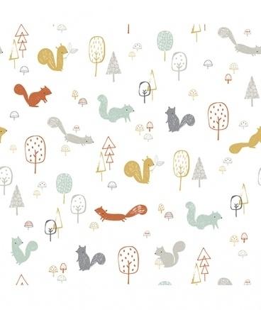 Vogeltjes Behang Lief.Behang Kinderkamer Forest Van Lilipinso Behang Kinderkamer