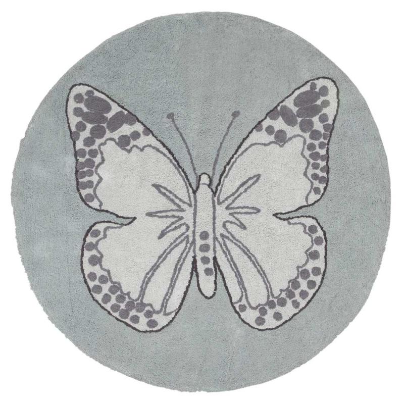 Vloerkleed Kinderkamer Butterfly Green