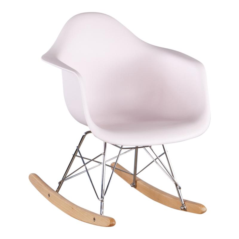 Schommelstoel voor kinderen Eames Junior Pastel roze