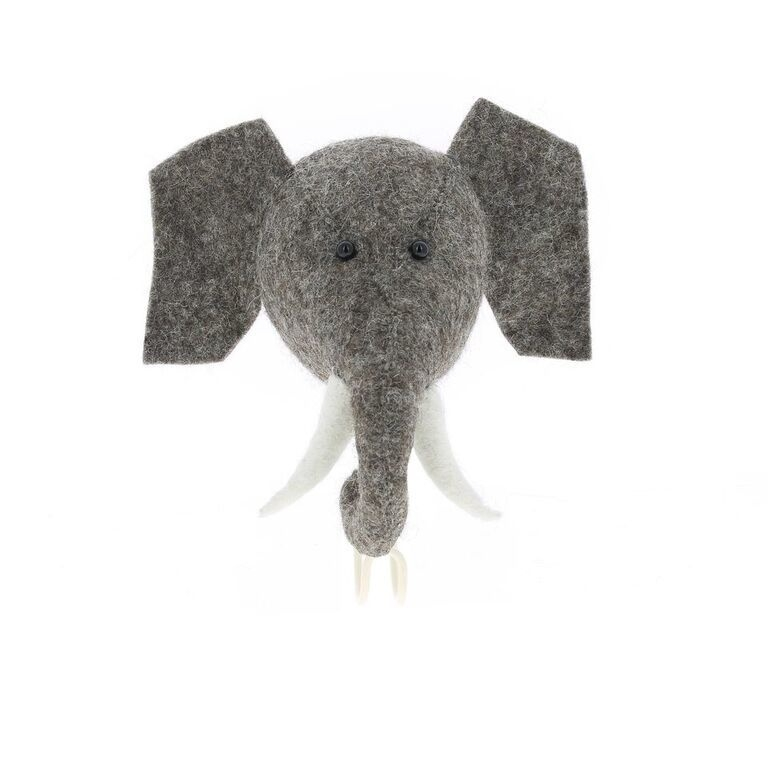 Wandhaakje Dierenkop Olifant van Fiona Walker