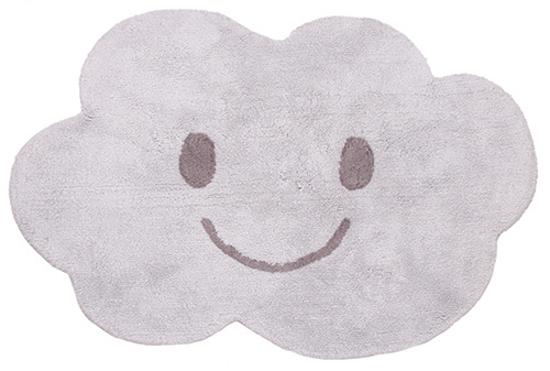 "Vloerkleed Kinderkamer ""Happy Cloud Grey"""