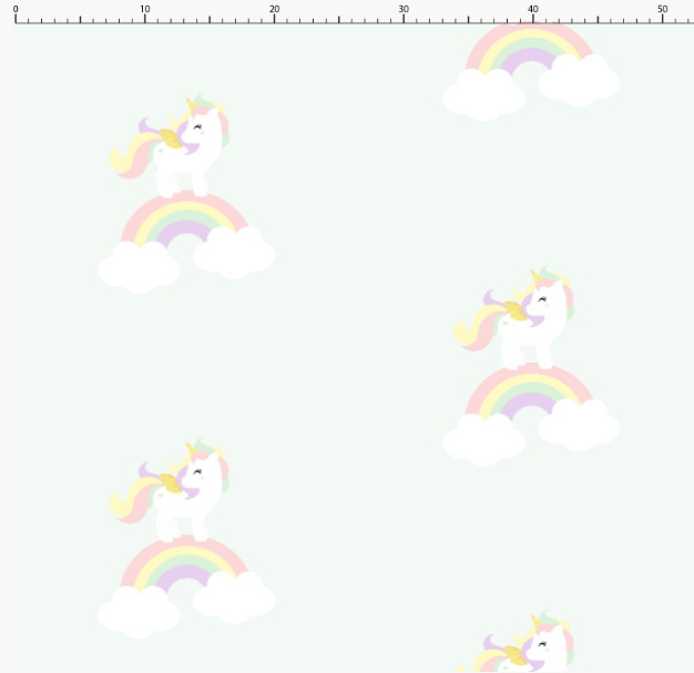 Behang Kinderkamer Unicorn  Pastel Designed4kids