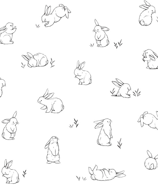 Behang Kinderkamer Bunnies van Lilipinso