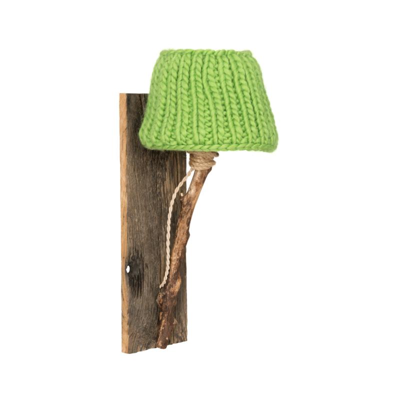 """Kinderkamer Wandlamp hout """"Appelgroen"""""""