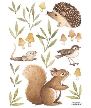 Muurstickers Kinderkamer  Little Forest Animals