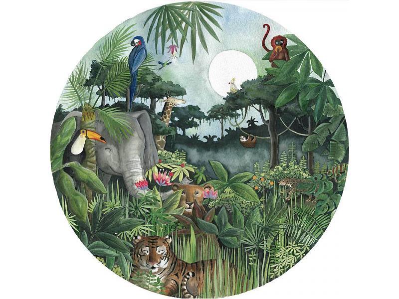 Hartendief Regenwoud behang cirkel