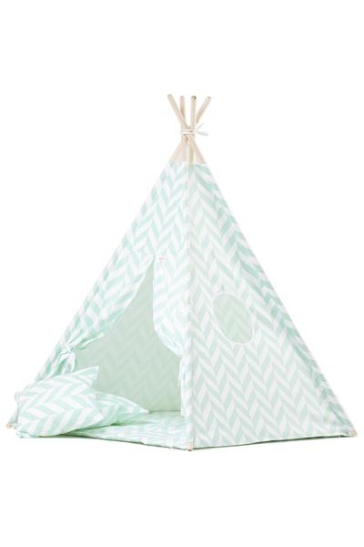 Tipi tent / Speeltent Kinderkamer Herringbone Mintgroen