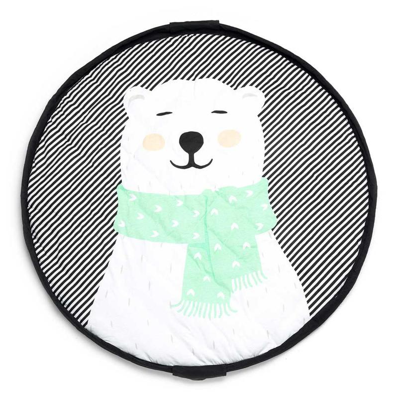 Play & Go Opbergzak en Speelgoedkleed Soft Polar Bear
