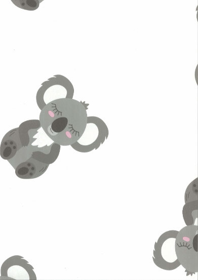 Behang Kinderkamer Koala Roze verspringend Fabsworld