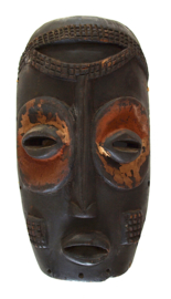 Masker, Antiek, hout, 35 cm. Congo