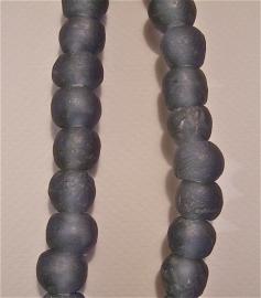Donkergrijze glaskralen, maat 5, per stuk