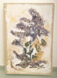 Boek, handgeschept papier, Omslag: Seringen, 15,5 x 22,5 x 2 cm.