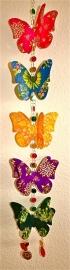 Vlinders, vijf op een rij, papier