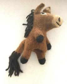 Paard, vingerpopje van 3D vilt
