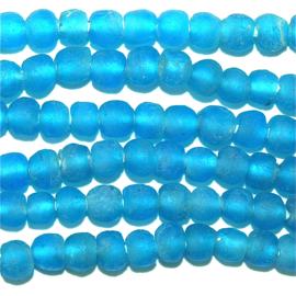 Turquoise glaskralen, maat 1