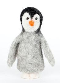 Pinguin, vingerpopje van 3D vilt
