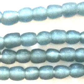 Grijsblauw glaskralen, maat 1