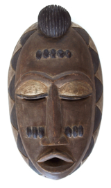 Masker, Antiek, hout, 38 cm. Congo