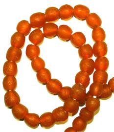 Glaskralen, Oranje, maat 4