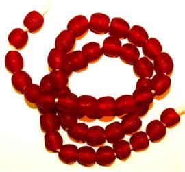 Glaskralen, rood, maat 4