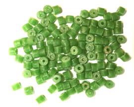 Cilindervormige glaskralen, groen