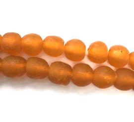 Licht oranje glaskralen, maat 2