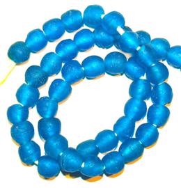 Glaskralen, turquoise blauw, maat 4