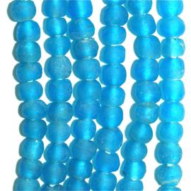Glaskralen turquoise, maat 2