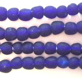 Donkerblauw glaskralen, maat 1