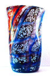 Proef van de meester, Goti di Mastro, roo/blauw, 18 cm. hoog
