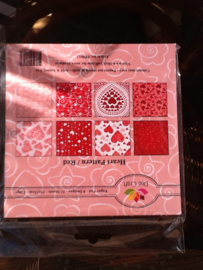 Dixi paper pack rode harten 15x15 cm.