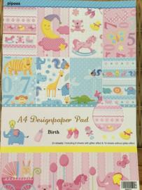 A4 designpaper Birth