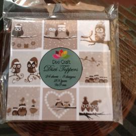 Dixi craft mini toppers, 9x9 cm.