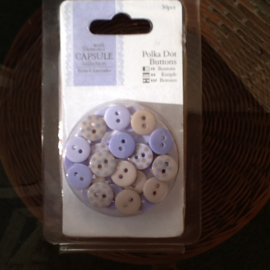 Kleine knoopjes gemengd, french lavender