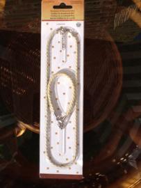 Set van ketting en armband, beige
