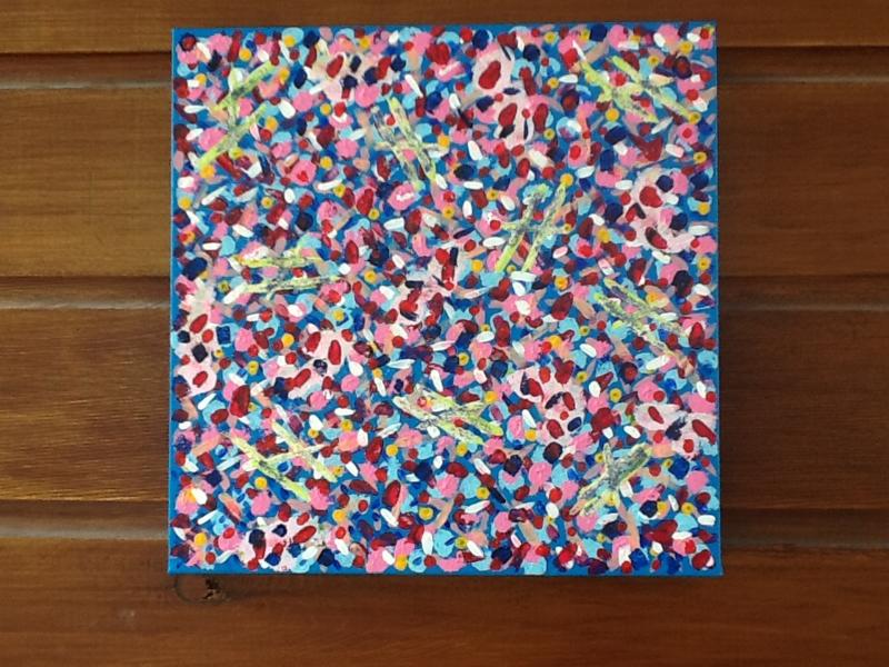 Abstract schilderij op canvas