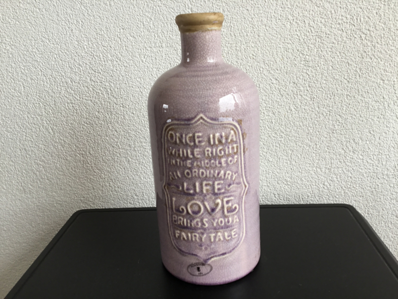 Lila vaas aardewerk