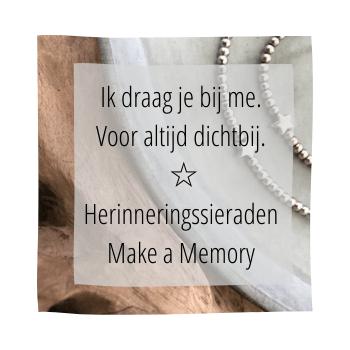 herinneringssieraden make a memory, handmade by sjiek