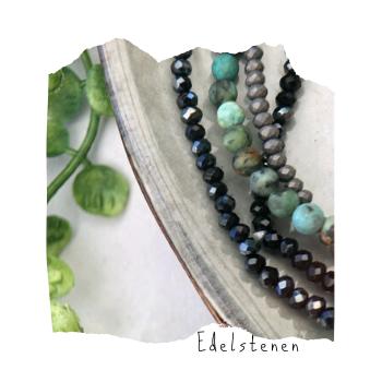 armbanden met edelstenen, edelstenen sieraden, handmade by sjiek