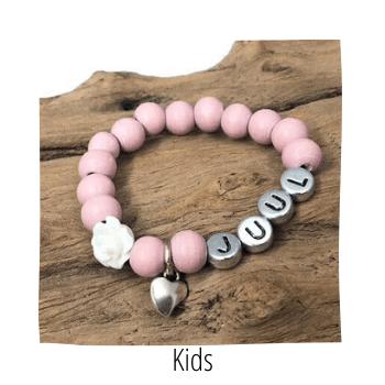kinderarmbandjes, sieraden voor kids, handmade by sjiek