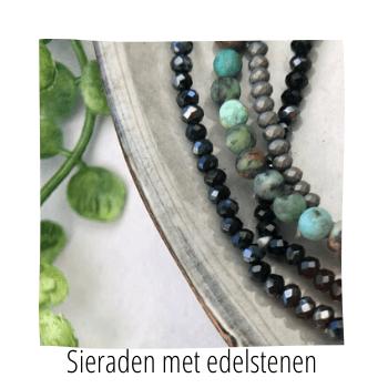sieraden met edelstenen, handmade by sjiek