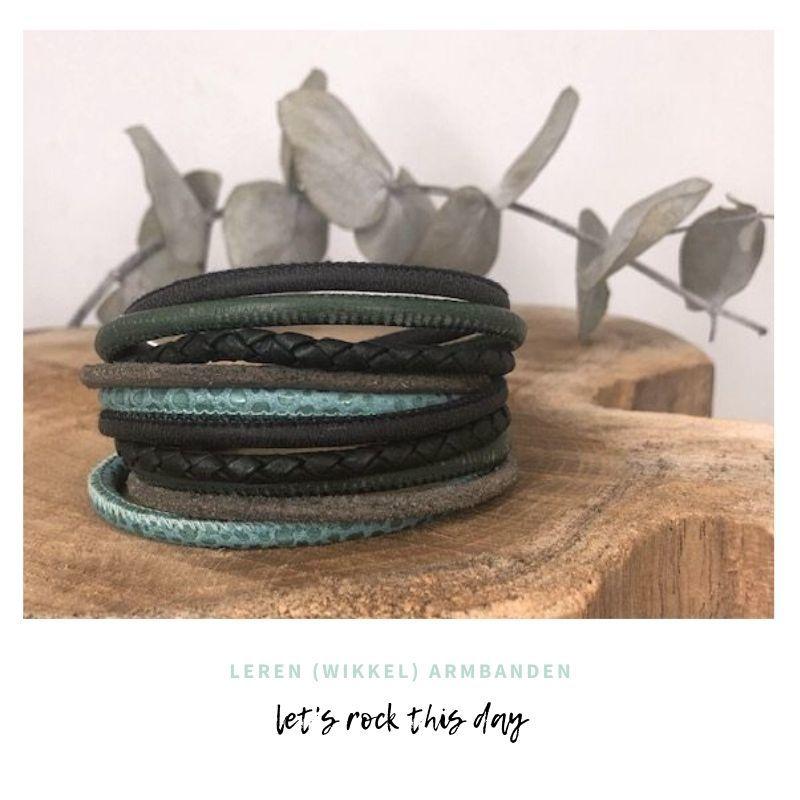 leren (wikkel)armbanden by Handmade by Sjiek