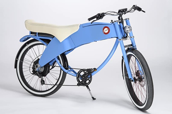 Stroler tweezitter e-bike bij Algasun