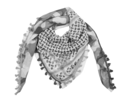 GREY CAMOUFLAGE SCARF ||